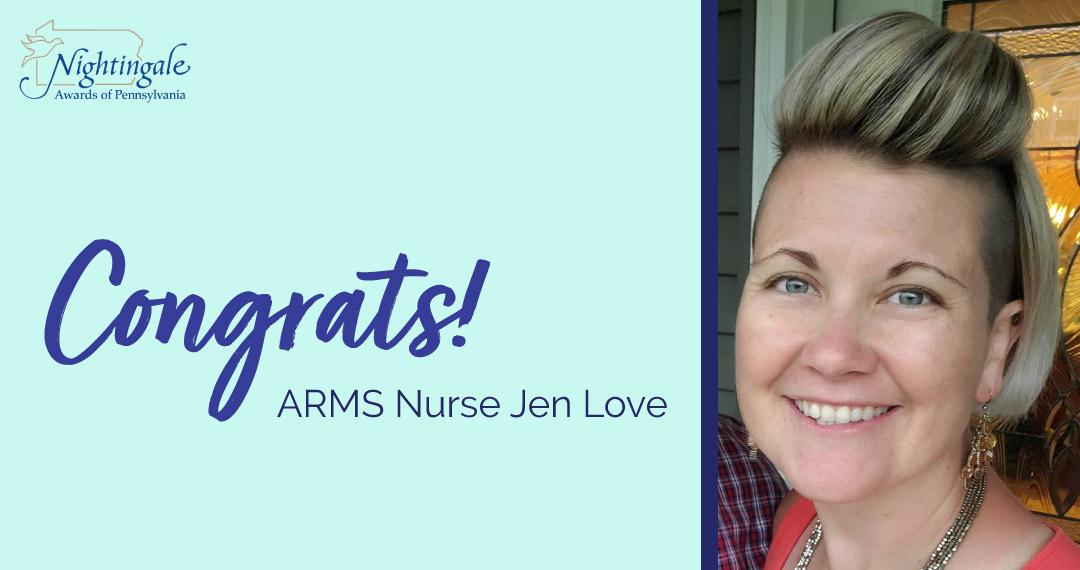 ARMS Nurse Jen Love Awarded Patient Choice Award